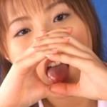 Japanese Girl Simulates Blowjob