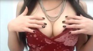 Holiday ASMR soft talking while caressing boobs